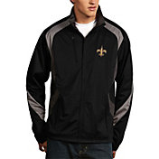 Antigua Men's New Orleans Saints Tempest Black Full-Zip Jacket