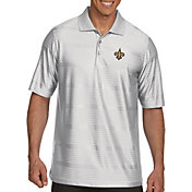 Antigua Men's New Orleans Saints Illusion White Xtra-Lite Polo