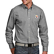 Antigua Men's Pittsburgh Steelers Associate Button Down Dress Shirt