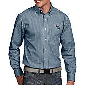 Antigua Men's Tennessee Titans Associate Button Down Dress Shirt