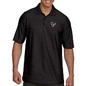Antigua Men's Houston Texans Illusion Black Xtra-Lite Polo