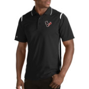 Antigua Men's Houston Texans Merit Black Xtra-Lite Polo