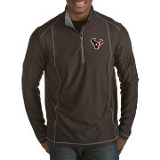 Antigua Men's Houston Texans Tempo Black Quarter-Zip Pullover