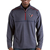 Antigua Men's Houston Texans Prodigy Quarter-Zip Navy Pullover