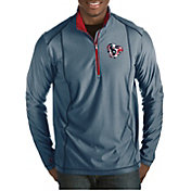 Antigua Men's Houston Texans Quick Snap Logo Tempo Navy Quarter-Zip Pullover