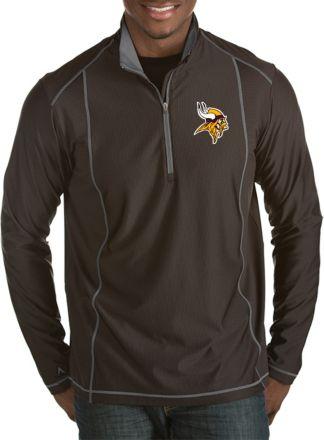 76918588a87 Antigua Men's Minnesota Vikings Tempo Black Quarter-Zip Pullover