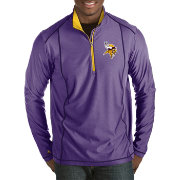 Antigua Men's Minnesota Vikings Tempo Purple Quarter-Zip Pullover