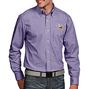 Antigua Men's Minnesota Vikings Associate Button Down Dress Shirt