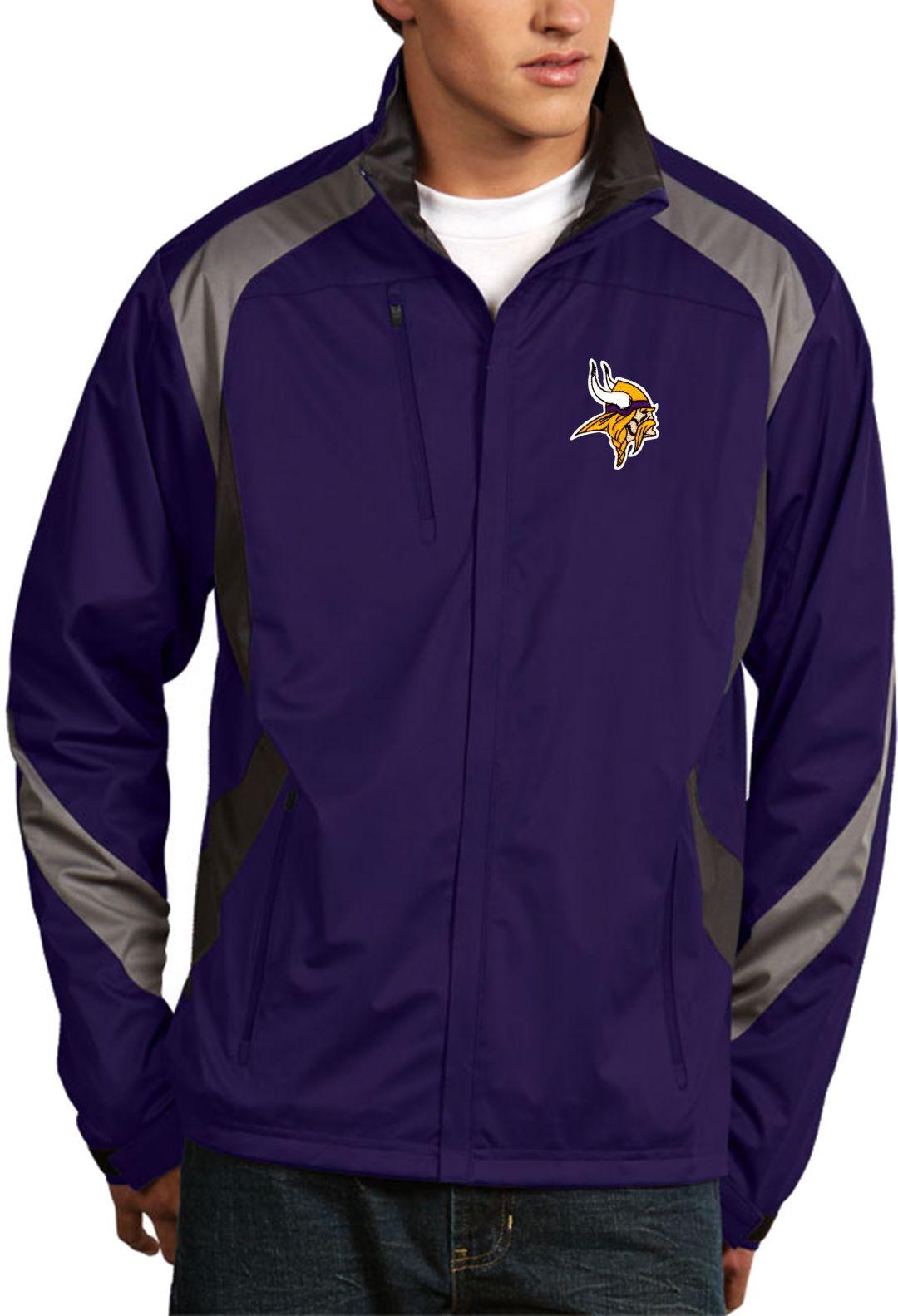 new product ca5a2 44b74 Antigua Men's Minnesota Vikings Tempest Purple Full-Zip Jacket