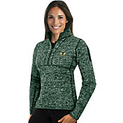 Antigua Women's Milwaukee Bucks Fortune Green Half-Zip Pullover