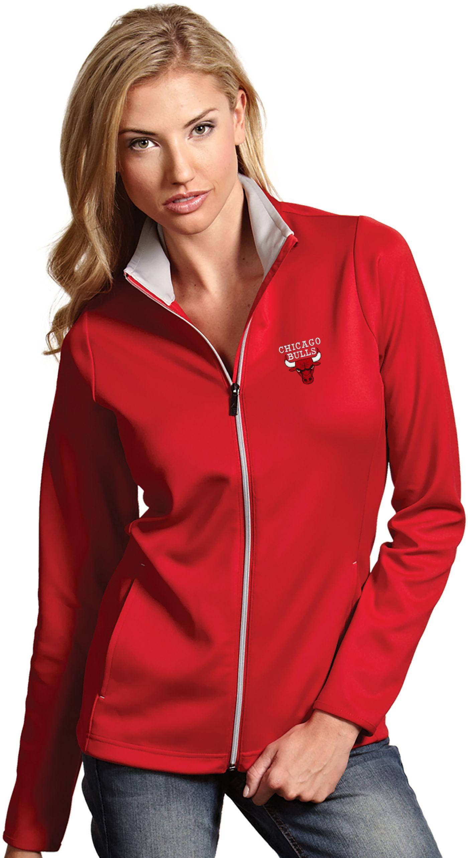 Antigua Women's Chicago Bulls Leader Red Full-Zip Fleece