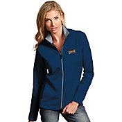 Antigua Women's Cleveland Cavaliers Leader Navy Full-Zip Fleece