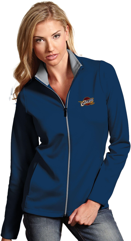 Antigua Women's Cleveland Cavaliers Leader Navy Full-Zip Fleece