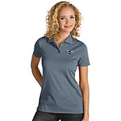 Antigua Women's Charlotte Hornets Xtra-Lite Grey Quest Performance Polo