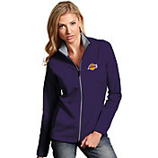 Antigua Women's Los Angeles Lakers Leader Purple Full-Zip Fleece