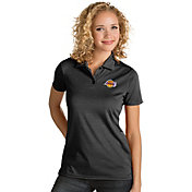 Antigua Women's Los Angeles Lakers Xtra-Lite Black Quest Performance Polo