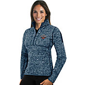 Antigua Women's New Orleans Pelicans Fortune Navy Half-Zip Pullover