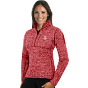 Antigua Women's Houston Rockets Fortune Red Half-Zip Pullover