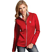 Antigua Women's Houston Rockets Leader Red Full-Zip Fleece