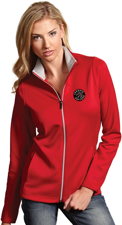 Antigua Women's Toronto Raptors Leader Red Full-Zip Fleece