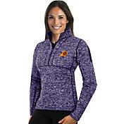 Antigua Women's Phoenix Suns Fortune Purple Half-Zip Pullover