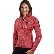 Antigua Women's Portland Trail Blazers Fortune Red Half-Zip Pullover