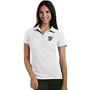 Antigua Women's Oklahoma City Thunder Xtra-Lite White Pique Performance Polo