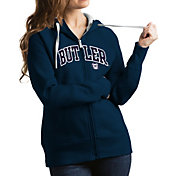 Antigua Women's Butler Bulldogs Blue Victory Full-Zip Hoodie
