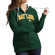Antigua Women's Baylor Bears Green Victory Full-Zip Hoodie