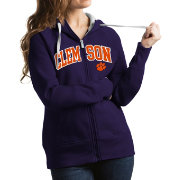 Antigua Women's Clemson Tigers Regalia Victory Full-Zip Hoodie