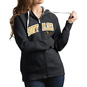 Antigua Women's Colorado Buffaloes Grey Victory Full-Zip Hoodie