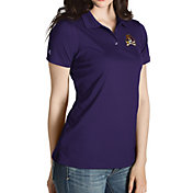 Antigua Women's East Carolina Pirates Purple Inspire Performance Polo