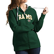 Antigua Women's Colorado State Rams Green Victory Full-Zip Hoodie