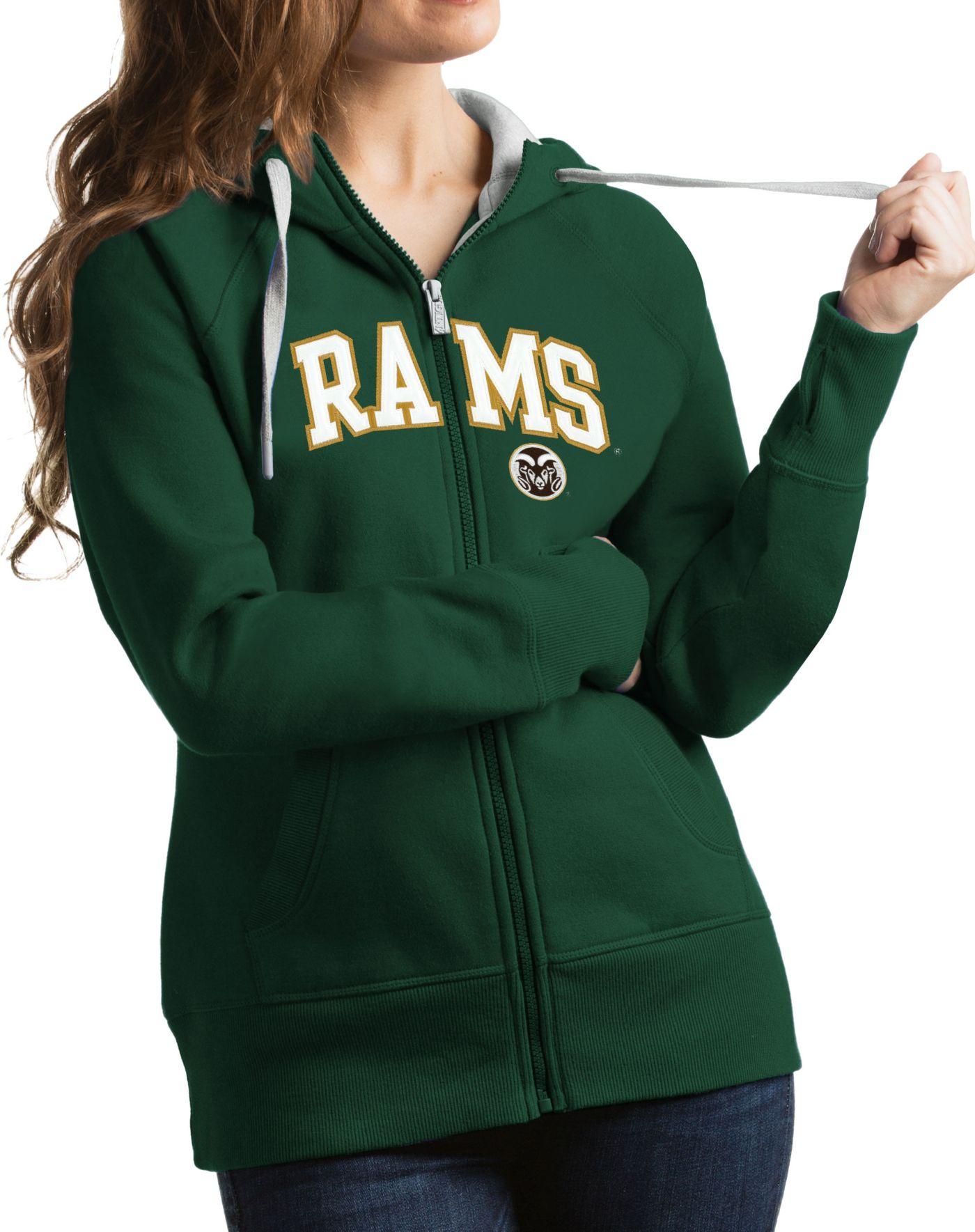 Antigua Women's Colorado State Rams Green Victory Full-Zip Hoodie