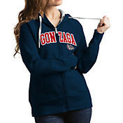 Antigua Women's Gonzaga Bulldogs Blue Victory Full-Zip Hoodie