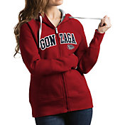 Antigua Women's Gonzaga Bulldogs Red Victory Full-Zip Hoodie