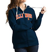 Antigua Women's Illinois Fighting Illini Blue Victory Full-Zip Hoodie