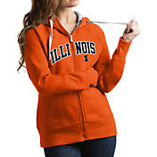 Antigua Women's Illinois Fighting Illini Orange Victory Full-Zip Hoodie