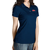 Antigua Women's Ole Miss Rebels Blue Inspire Performance Polo