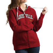 Antigua Women's Louisville Cardinals Cardinal Red Victory Full-Zip Hoodie