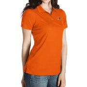 Antigua Women's Miami Hurricanes Orange Inspire Performance Polo