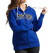 Antigua Women's Memphis Tigers Blue Victory Full-Zip Hoodie