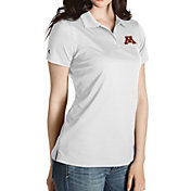 Antigua Women's Minnesota Golden Gophers Grey Inspire Performance Polo