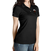 Antigua Women's Montana Grizzlies Black Inspire Performance Polo
