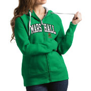 Antigua Women's Marshall Thundering Herd Green Victory Full-Zip Hoodie