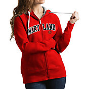 Antigua Women's Maryland Terrapins Red Victory Full-Zip Hoodie