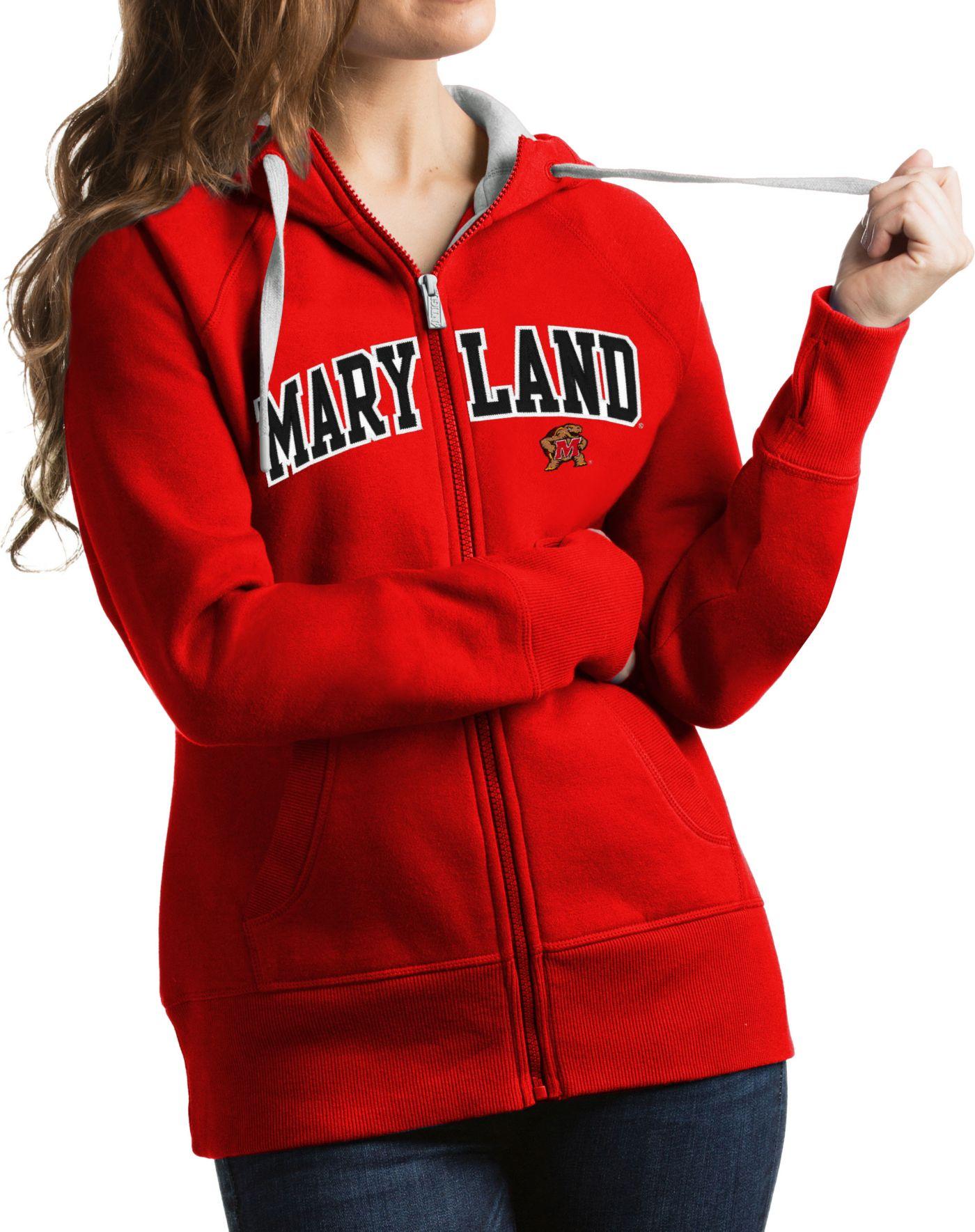 Antigua Women's Maryland Terrapins Red Victory Full-Zip Hoodie