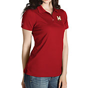 Antigua Women's Maryland Terrapins Red Inspire Performance Polo