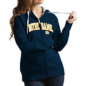 Antigua Women's Notre Dame Fighting Irish Navy Victory Full-Zip Hoodie