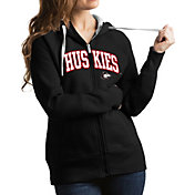 Antigua Women's Northern Illinois Huskies Black Victory Full-Zip Hoodie